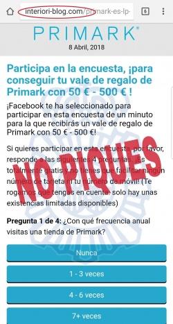 Imagen - Cuidado con las encuestas que regalan vales de 500 euros para Primark