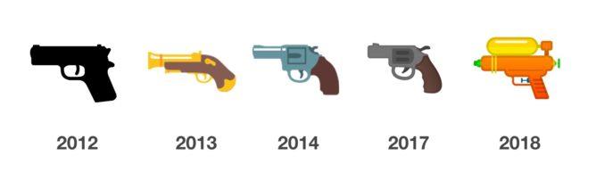 Imagen - Android cambia el emoji del revólver por una pistola de agua