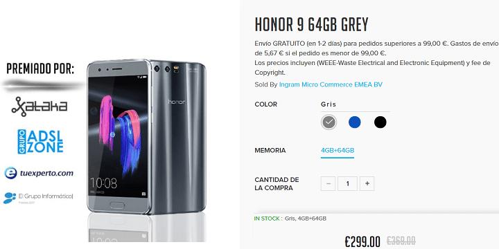 Imagen - Oferta: Honor 9 por 299 euros durante 48 horas
