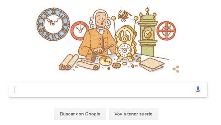 Imagen - Google dedica su Doodle a John Harrison, el relojero que revolucionó la navegación
