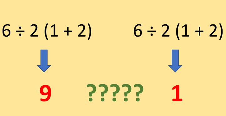 """Imagen - """"6 ÷ 2 (1 + 2) = ?"""", el problema matemático en Instagram que """"está matando Internet"""""""