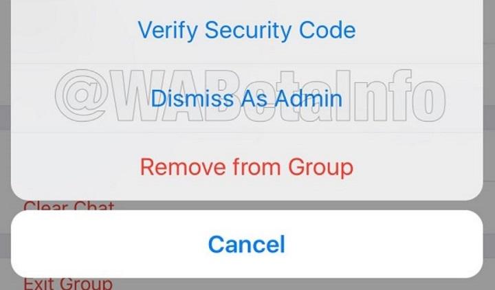 Imagen - WhatsApp ya permite eliminar administradores de grupo