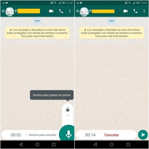 Imagen - WhatsApp beta para Android ya permite bloquear el micrófono para grabar audios