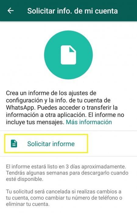 Imagen - WhatsApp te permitirá descargar tus datos