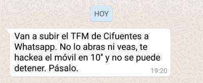 Imagen - Cuidado con el supuesto TFM de Cifuentes que van a subir a WhatsApp