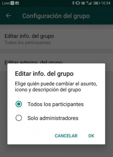 """Imagen - WhatsApp añade descripciones, controles de administrador y """"Ponte al día"""" en los grupos"""
