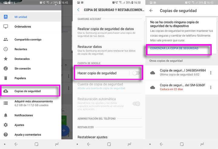 """Imagen - Cómo solucionar """"No se ha creado ninguna copia de seguridad de tu dispositivo"""""""