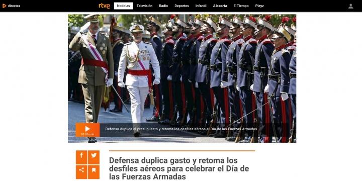 Imagen - Dónde ver online el desfile del Día de las Fuerzas Armadas 2018