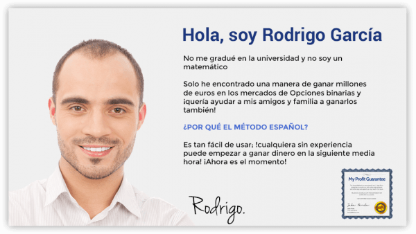 Hombre español se hace millonario con opciones binarias