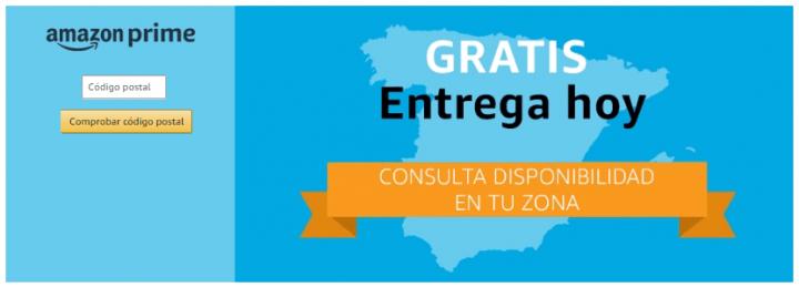 """Imagen - Amazon Prime ya ofrece la """"Entrega Hoy"""" gratis en Madrid y Barcelona"""