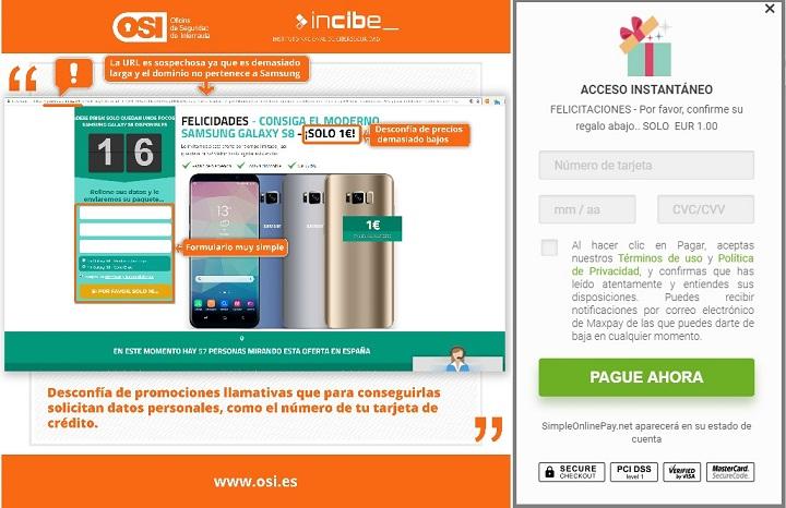Imagen - Un email pide confirmar un paquete con un Samsung Galaxy, ¿es fiable?