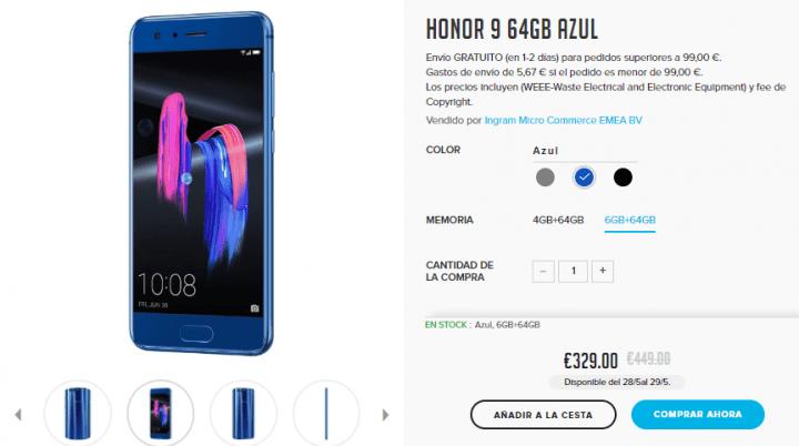 Imagen - Oferta: Honor 9 desde 299 euros durante 48 horas