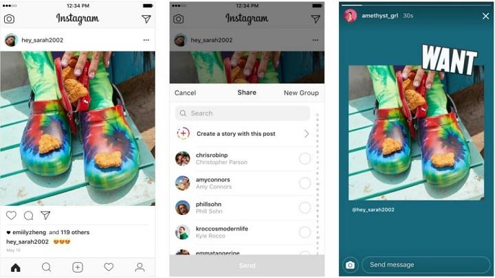 Imagen - Instagram ya permite compartir las fotos de otros usuarios en las Stories