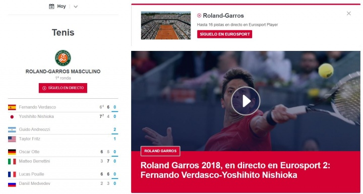 Imagen - Cómo seguir online Roland Garros 2018