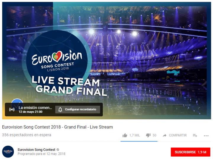 Imagen - Dónde ver online Eurovisión 2018