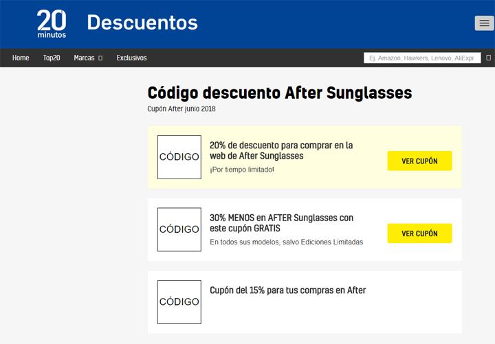Imagen - Dónde conseguir descuentos online para gafas de sol