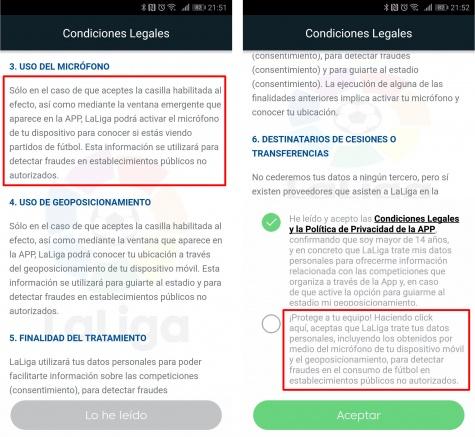 Imagen - La app de LaLiga graba sonido con tu móvil para detectar el fútbol pirata en los bares