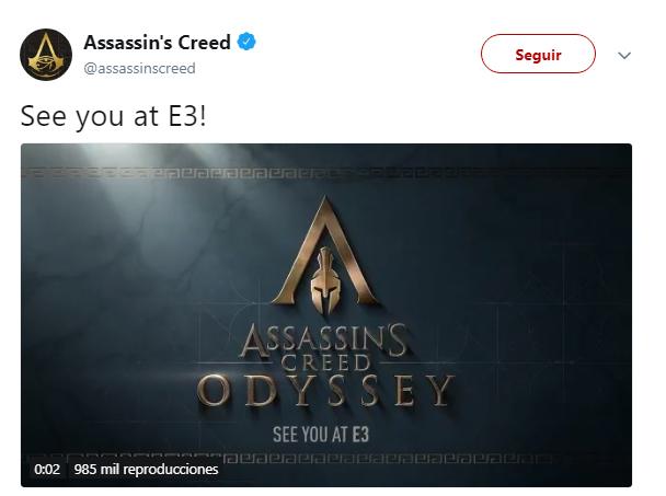 Imagen - Assassin's Creed Odyssey se desvela: ambientado en Grecia y con dos personajes jugables