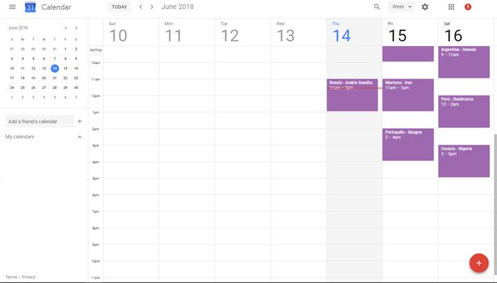 Imagen - Cómo añadir el Mundial a Google Calendar