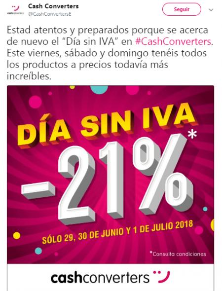 Imagen - Cash Converters celebra su Día sin IVA