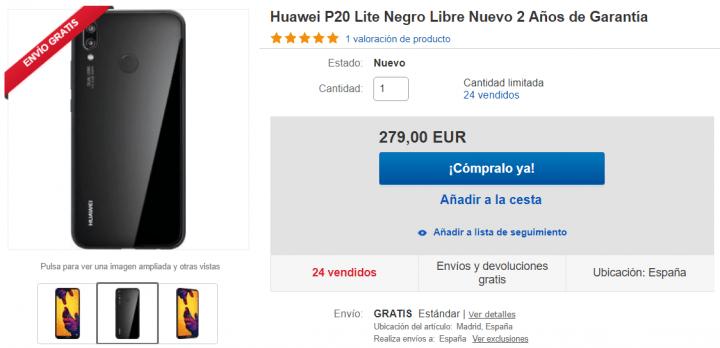 Imagen - Oferta: Huawei P20 Lite por 279 euros