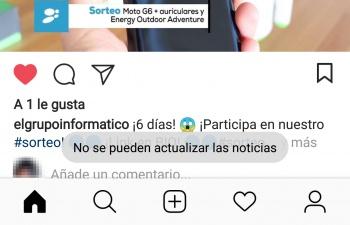 Imagen - Instagram está caído: no se pueden actualizar las noticias