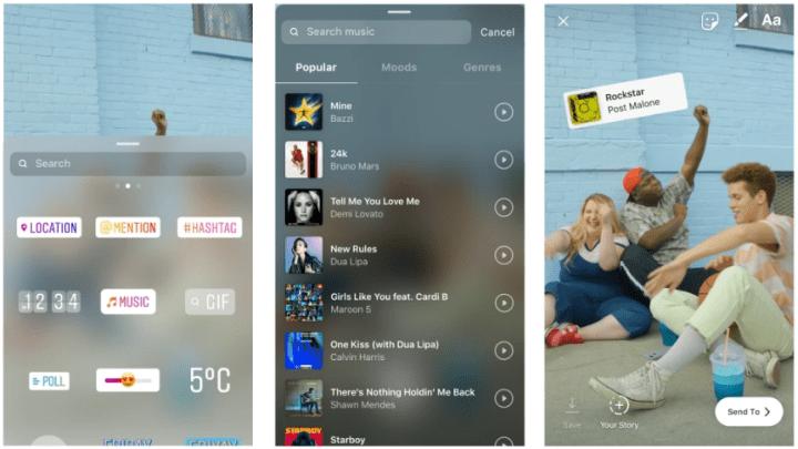 """Imagen - Instagram Stories lanza """"Música"""", un sticker para añadir canciones"""