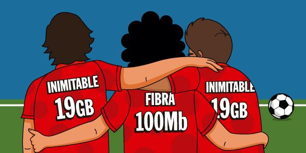 Imagen - Trío inimitable de Pepephone, con fibra de 100 megas y dos tarifas inimitables