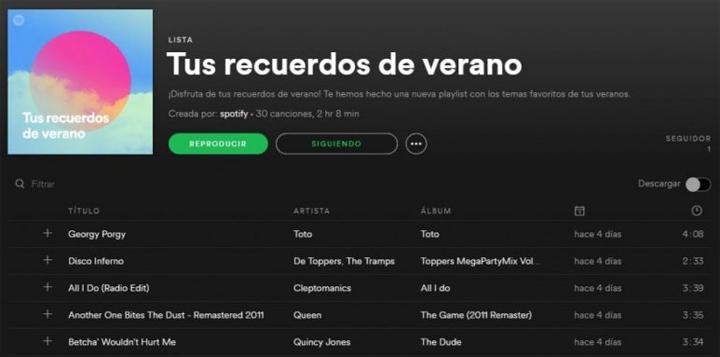"""Imagen - """"Tus recuerdos de verano"""", la playlist de Spotify con la música de tus anteriores veranos"""