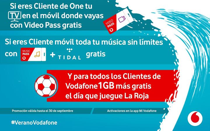 Imagen - Vodafone lanza sus promociones de verano: Music Pass con Tidal y Video Pass gratis