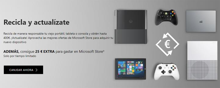"""Imagen - Microsoft lanza """"Recicla y actualízate"""": vende tus dispositivos para ahorrar en los nuevos"""