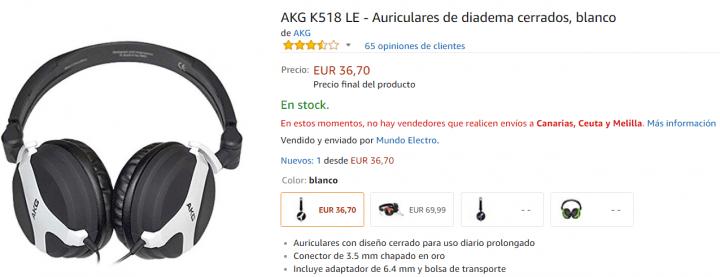 Imagen - 5 auriculares AKG para comprar
