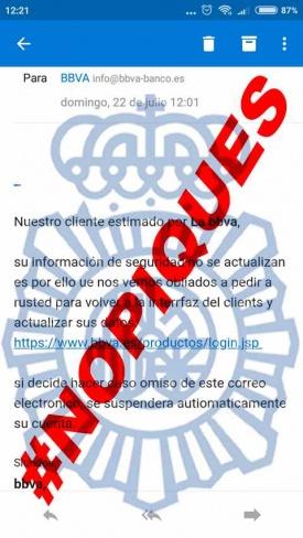 Imagen - Cuidado con el email de BBVA que te pide acceder a tu cuenta por un fallo de seguridad