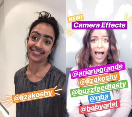 Imagen - Instagram Stories añade efectos de cámara de terceros como Ariana Grande y la NBA
