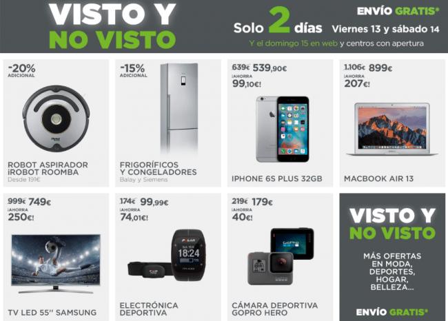 """Imagen - """"Visto y no visto"""", ofertas tecnológicas en El Corte Inglés con gastos de envío gratis"""