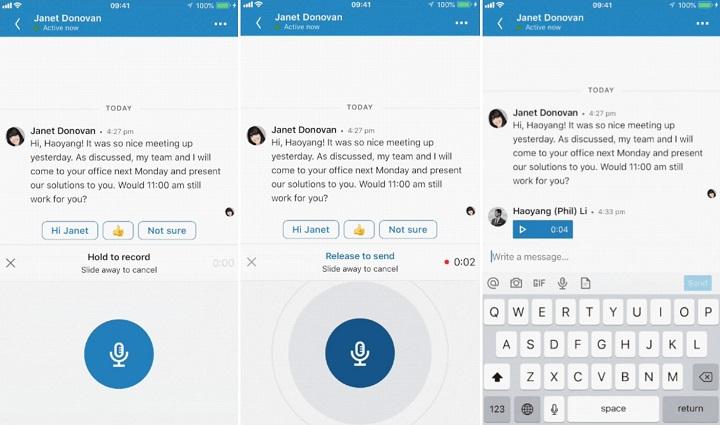 Imagen - LinkedIn permitirá enviar audios en los mensajes privados
