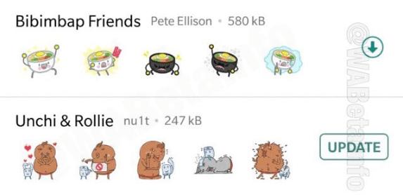 Imagen - WhatsApp beta muestra ya los stickers