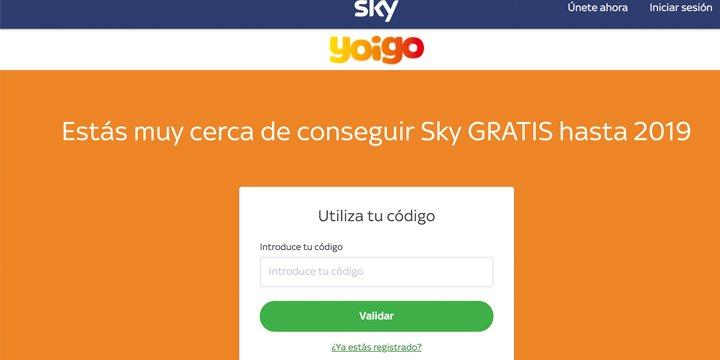 Yoigo ofrece Sky gratis a todos sus clientes hasta final de año
