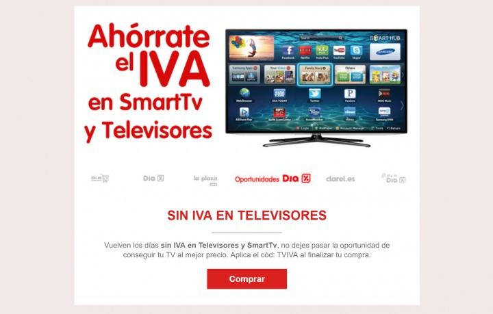 Imagen - Día sin IVA en televisores y smart TV en las tiendas DIA