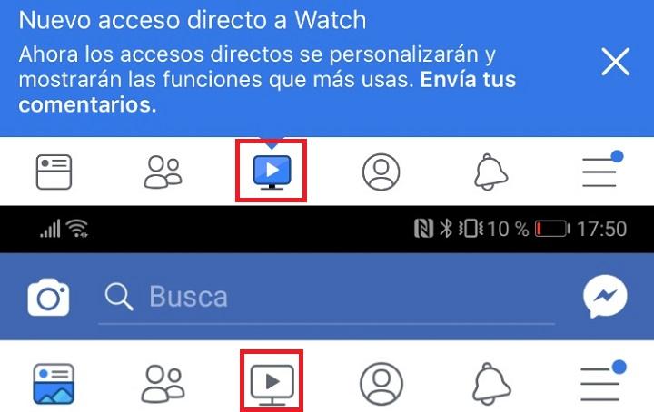 Imagen - Facebook para móviles añade un acceso directo a vídeos