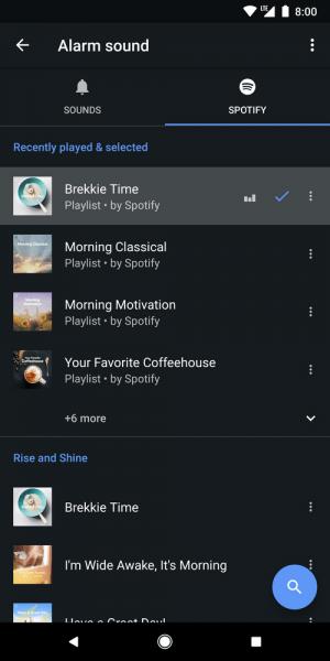 Imagen - El reloj de Android se une a Spotify para que elijas la música de tu alarma
