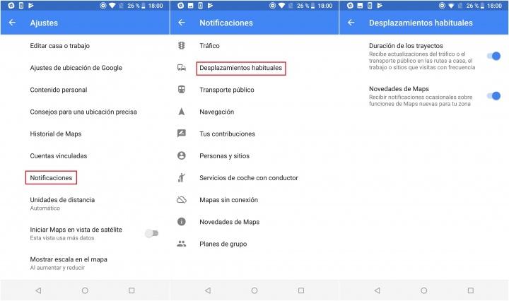 Imagen - Cómo eliminar o añadir las alertas de tráfico de tu ruta habitual en Google Maps
