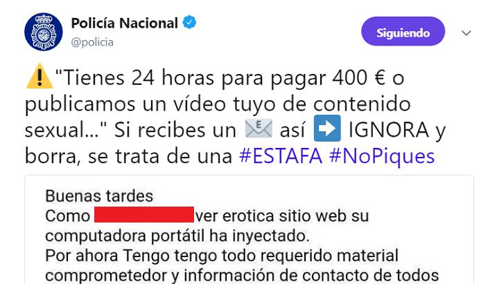 """Imagen - """"Paga 400 euros o publicamos un vídeo erótico tuyo"""", la nueva estafa por email"""