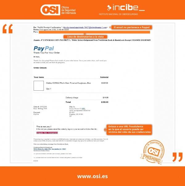 Imagen - Cuidado con los falsos emails de PayPal sobre una compra no autorizada
