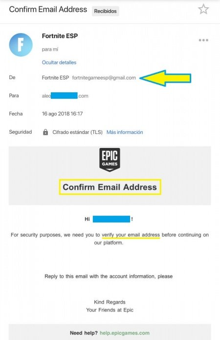 Imagen - ¡Cuidado! Un nuevo correo intenta robarte tu cuenta de Fortnite