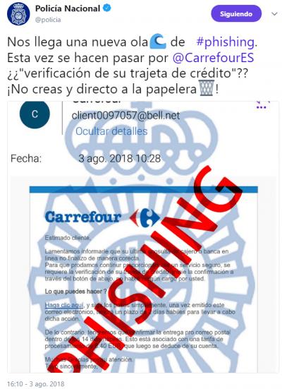 Imagen - Nuevo correo falso de Carrefour pide verificar tu tarjeta de crédito