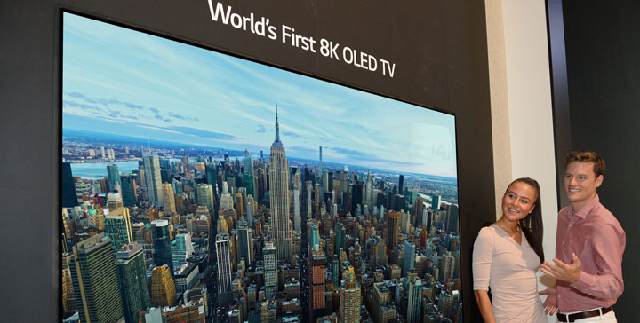 LG presenta la primera televisión OLED 8K de 88 pulgadas