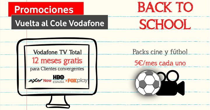 Imagen - Vuelta al Cole de Vodafone: 1 año de TV gratis y 25 GB de datos móviles