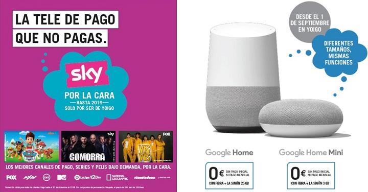 Imagen - Yoigo regalará el Google Home, líneas Duo y más al contratar la tarifa Sinfín con fibra