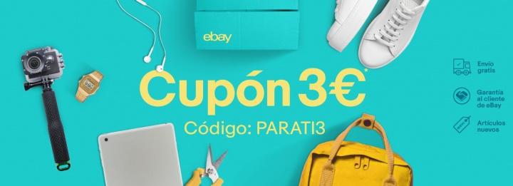 Imagen - Oferta: 3 euros de descuento en eBay para cualquier compra desde 5 euros